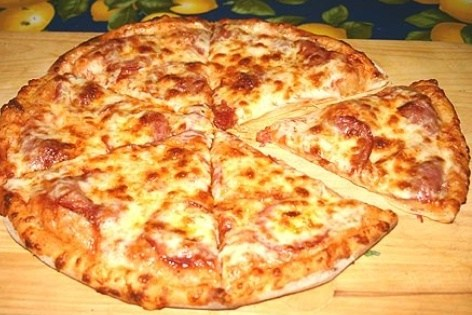 Быстрая тонкая пицца